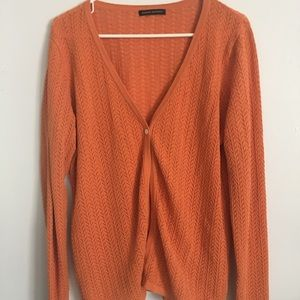 Banana Republic Cardigan Large Orange